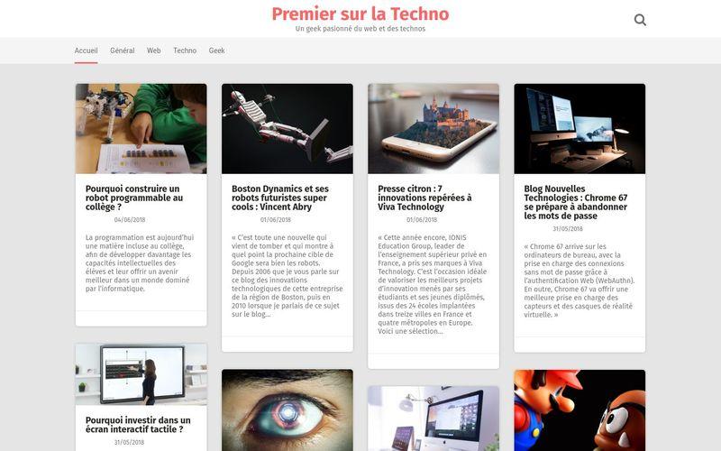 Premier sur la Techno - Un geek pasionné du web et des technos