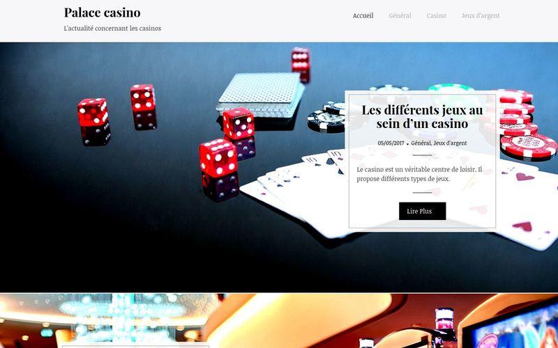 Palace casino - L'actualité concernant les casinos