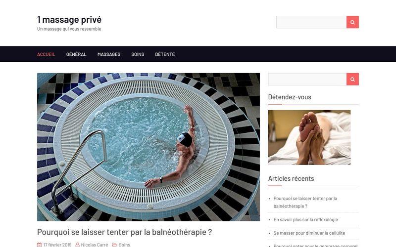 1 massage privé - Un massage qui vous ressemble
