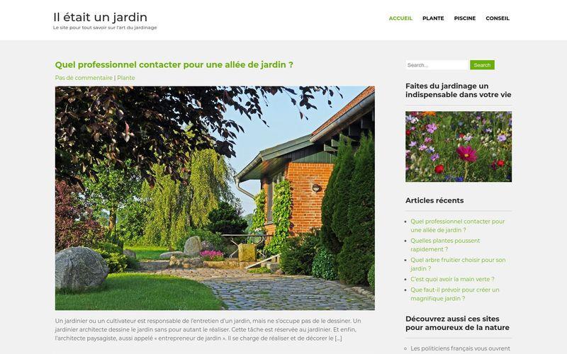 Il était un jardin - Le site pour tout savoir sur l'art du jardinage